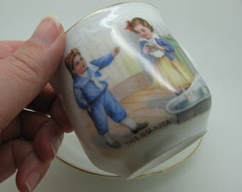 German Late Victorian Teacup with Saucer - The Regatta