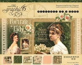 SALE PREORDER Graphic 45 Portrait of a Lady 8x8 Paper Pad