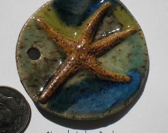 Stoneware Dancing Starfish Pendant