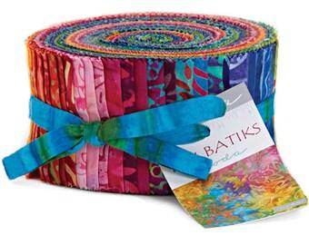 "Moda TIKI BATIKS Jelly Roll 2.5"" Precut Fabric Quilting Cotton Strips 4343JR"
