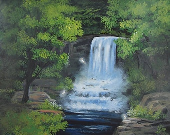Little Forest Waterfall - Fine Art Print