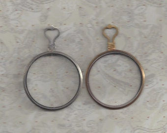 Trial or Optical lenses.. Antique..1 silver and 1 gold type monocle