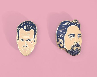Lapel Pin Set; John McClane and Hans Gruber in Die Hard