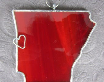 Arkansas State Stained Glass Ornament  or Window Sun Catcher Lead Free or Your Choice of State