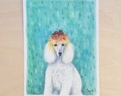 Noodle Poodle - Unframed 5.5x7.5 Limited Edition Giclee Print