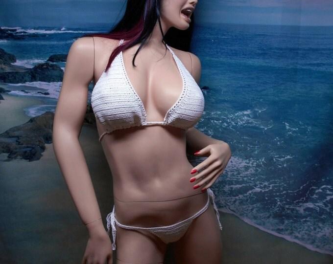 Featured listing image: Exotic, Micro Crochet, Thong Bikini set