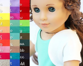 Fits like American Girl Doll Clothes - The Basic Shrug, You Choose Color, Made To Order
