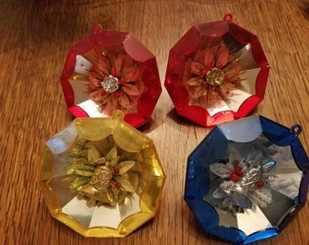 Very cool decagon Vintage Christmas Ornaments
