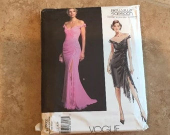 Vogue Pattern 2802 Belleville Sassoon Designer Formal Dress SZ 12-16 New Uncut
