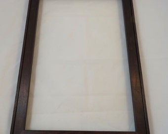 12 x 18  Maple with Brown Mahogany Dye Picture Frame