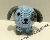 Reserved for Chrystinaz.  Plush Toy Puppy Dog in Blue.