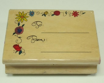 Floral Border To From Tag Wood Mounted Rubber Stamp From Stamps Etc CR1-035 Floral, Flower