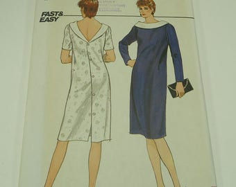 Butterick Fast And Easy Misses' Dress Pattern 4857 Size 14, 16,18
