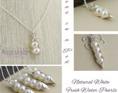 2 peas in a pod, sterling silver, gift for mom, mother of bride, sister of bride, wholesale, freshwater pearls, gift for mom, sister gift