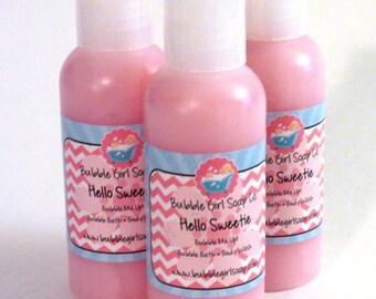 Hello Sweetie Body Wash Bubble Bath Shower Gel 2 Oz. Travel Size (Hello Sugar Type)