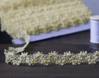 3 to 6 yards Rick Rack Picot Trim Gimp Braid Trim  5/8 inch or 1.5 cm Width - Choose Your Own Yards -Number 2 Pastel Yellow