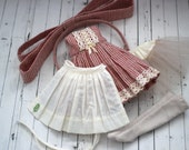 Striped Dress and Apron Set for Blythe
