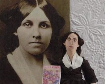 Louisa May Alcott Little Women Author Miniature Victorian Writer Doll