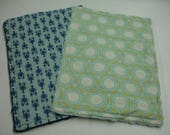Lobsters and Mint Tile Grid Baby Quick Wipe Set READY TO SHIP