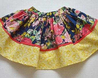 SAMPLE SALE - Gypsy Skirt in Secret Garden - Size 4 - Our best selling skirt!