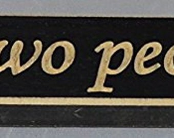"Wood Plaque saying, ""All Because Two People Fell In Love."""