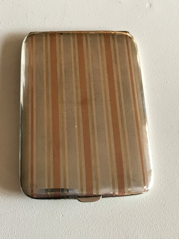 Art Deco 14K Gold and Sterling Silver card or cigarette case by James E. Blake and Co. (1889-1936)