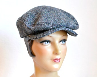 Driving Cap in Vintage Harris Tweed - Tweed Flat Cap - READY TO SHIP via 3 Day Priority