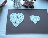 Custom Order  White Crochet Hearts for Pat, pap81289
