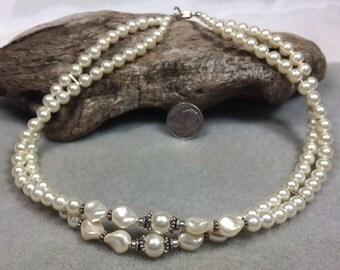 Swarovski Pearl and Sterling Silver Choker