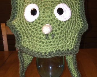 Crocheted Triceratops Baby Hat