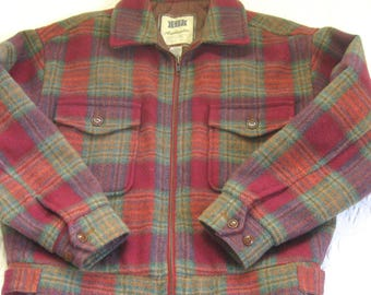 Plaid jacket . plaid gap jacket . plaid wool jacket . zippered plaid jacket . plaid bomber jacket . made in the Philippines