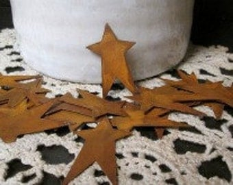 2in Rusty Tin Primitive Stars pk/12