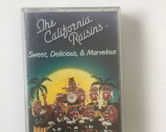 California Raisins Cassette Tape Sweet Delicious Marvelous