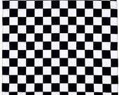 ON SALE CHECKERED Flag Linens - Table runner, napkins, centerpiece rounds, squares, black And white check Table Racing nascar decor Wedding