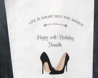 High Heel Favor Bags | High Heel Party | 40th Birthday | Ladies Party Favors | Candy Buffet  | High Heel Bags | Favor Bags
