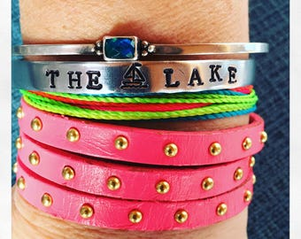 The Lake - Hand Stamped Bracelet