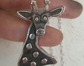 Giraffe Necklace Silver Sterling Giraffe Jewelry April The Giraffe Zoo