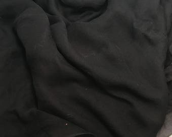 Silk Gauze Chiffon - Hand Dyed Black - 1/2 Yard