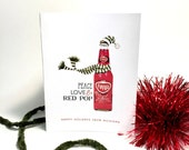 Peace, Love & Red Pop Boxed Holiday Card Set