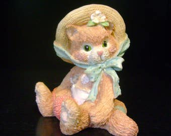 "Vintage Enesco - Calico Kittens - ""I'm All Fur You"" - 1992"