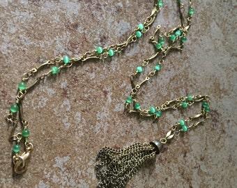 Long Necklace, Vintage Tassel Necklace