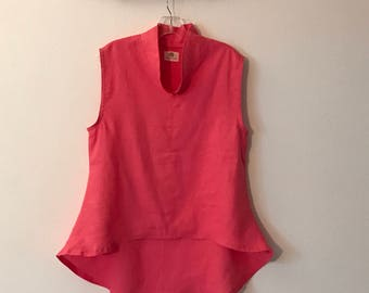 Pink linen wavy end top size M ready to wear
