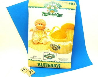 Uncut Cabbage Patch Kids Baby Bed/ Carrier Butterick Pattern 6661