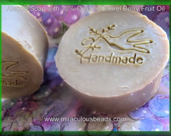 2 Aleppo Soap Bars 20% Organic, Unrefined, Laurel Berry Fruit Oil and Extra Virgin Organic Olive Oil