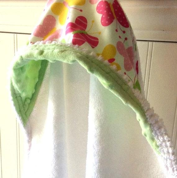 Kids-Towel-Personalized-Bath-Hooded-Towels-Girls-Pink-Butterfl