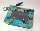Zip ID Case in Allover Floral Green