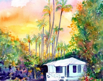 il_340x270.1192405275_4szq Painting Old Hawaiian Plantation House on old chinese house paintings, farm paintings, plantation homes acrylic canvas paintings, scenic country landscape paintings,