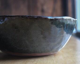 Large speckled dark blue bowl - serving size