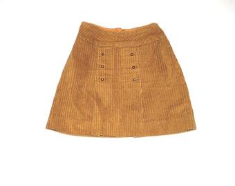 Yellow mini skirt | Etsy