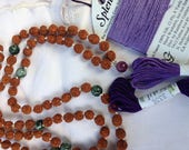 RESERVED Handknotted Half Mala Restringing Prayer Beads Repair